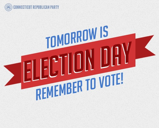 2morrow is election day remember vote